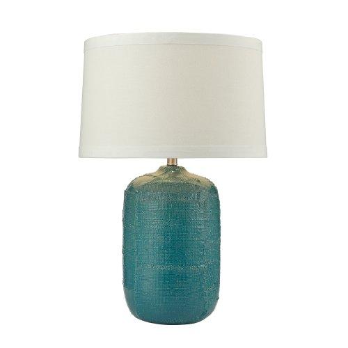 Dimond Lighting D2694 Patchwork Ceramic Table Lamp, Mediterranean Blue