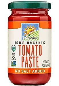 Bionaturae Tomato Paste | Organic Tomato Paste | Keto Friendly | Non-GMO | USDA Certified Organic | No Added Sugar | No Added Salt | Made in Italy | 7 oz (12 Pack)