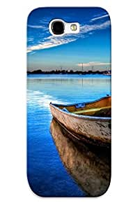linJUN FENGGalaxy Note 2 Case Slim [ultra Fit] Boat On The Sea Protective Case Cover(best Gift Choice For Friends)