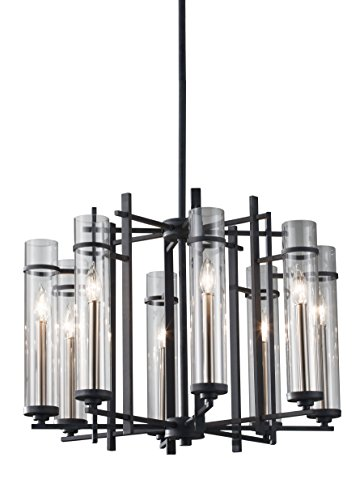 Murray Feiss F2628/8AF/BS, Ethan Candle 1 Tier Chandelier Lighting, 8 Light, 480 Watts, Forged (Forged Iron 5 Light Chandelier)
