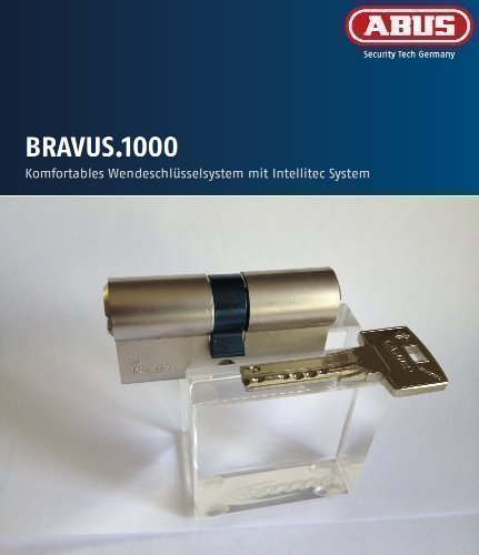 ABUS Bravus.1000 Seguridad - Doble cilindro con 6 Llave, Longitud 30/35mm