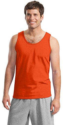 Gildan Mens Ultra Cotton Tank Top, 2XL, Orange