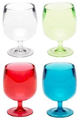 Zak Designs Stacky 4-Piece Plastic Cordial Glass Set, 2.25-Ounce