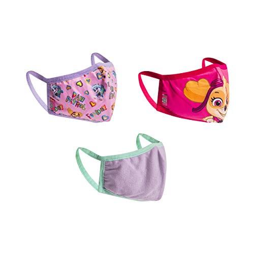 Paw Patrol Face Mask for Kids Set, 3-Pack, Reusable & Washable Cloth Kids' Face Masks (Girls Skye & Friends)