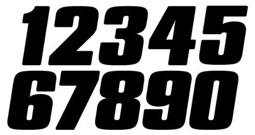 Dirt Digits DD73W-3 White 7'' High-Gloss Precision Die Cut Vinyl Number 3, 3 Pack