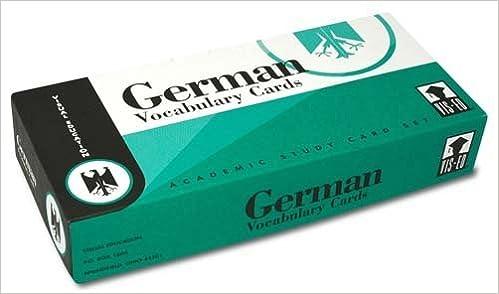 German Vocabulary Cards: German-English Vocabulary Flash Cards ...