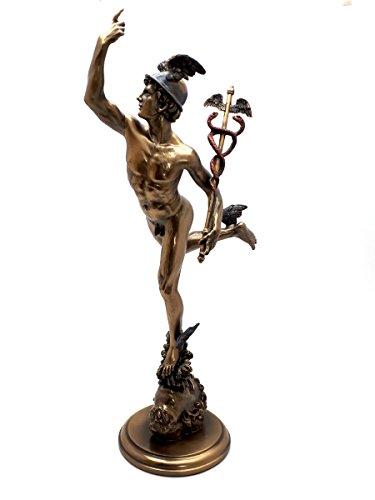 Veronese Hermes Flying Mercury Greek Roman God Statue Sculpture Figure Bronze Finish 14.75΄΄