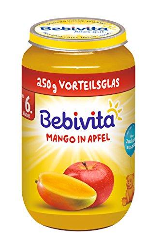 Bebivita Früchte Mango in Apfel, 6er Pack (6 x 250 g) 1323