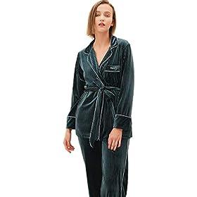 Milumia-Conjunto-de-pijama-de-manga-larga-con-botones-y-bolsillo-para-mujer