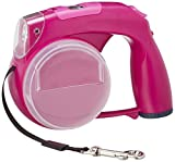 Protocol Protocol Retractable Purple Leash for Dogs - Comes with Bowl, Treat Storage, Baggie Dispenser, LED Light and Clock