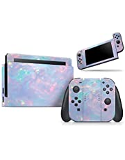 Blurry Opal Gemstone - Skin Decal Vinyl Full-Body Wrap Kit Compatible with The Nintendo Switch Console + Joycons (Nintendo Switch Console + Joycons not Included)