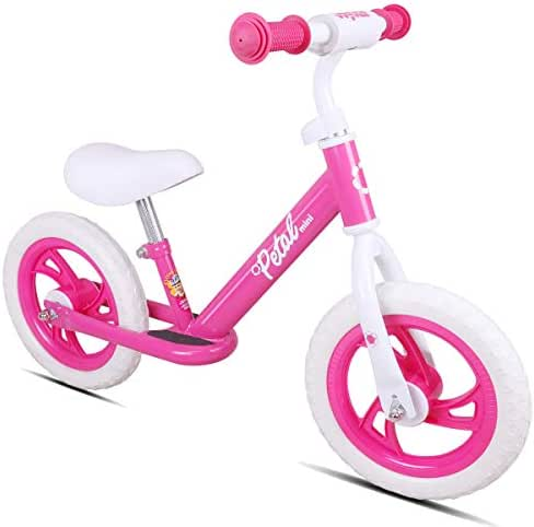 JOYSTAR 12 Inch Kids Balance Bike with Footrest for 1-5 Years Girls & Boys, Push Bike for Toddler with EVA Polymer Foam Tire, (Blue, Green, Pink, Red)