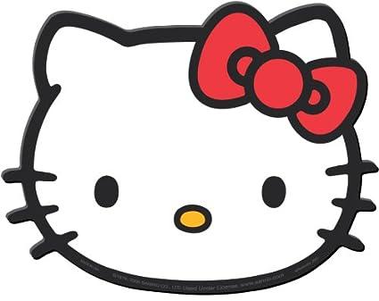 0d47d3e90 Amazon.com: Plasticolor Hello Kitty Face Die Cut Utility Mat- 14 ...