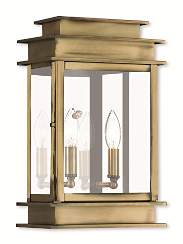 - Wall Sconces 2 Light with Hand Crafted Solid Brass Clear Glass Brass Tones Size 15 in 120 Watts - World of Crystal