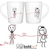BOLDLOFT Tie the Knot His and Hers Bride and Groom Coffee Mugs|Wedding Gifts