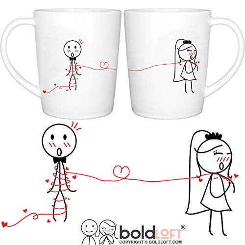 - BOLDLOFT Tie the Knot His & Hers Wedding Coffee Mugs-Wedding Gifts for the Couple,Wedding Gifts for Bride and Groom,Engagement Gifts for Couples for Him for Her,Bridal Shower Gifts