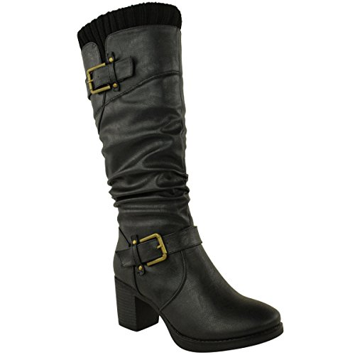 Cheap Leather Riding Boots - 3