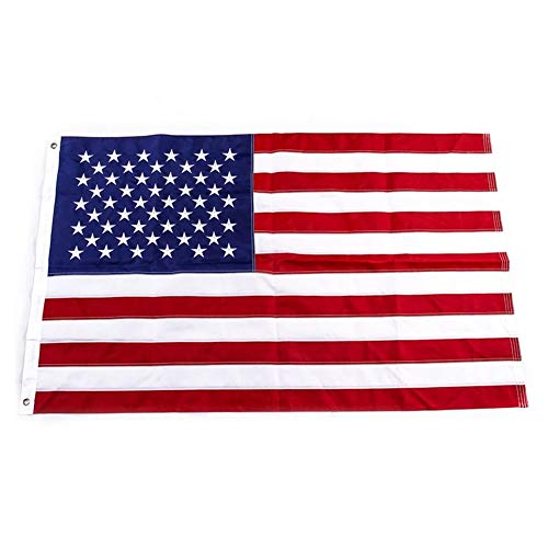 - Yafeco U.S. 50 Star Sewn Boat Flag, 12 x 18 inch Yacht Boat Ensign Nautical US American Flag Fully with Sewn Stripes, Embroidered Stars and Brass Grommets.