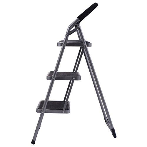 Ginatex Non-slip 3 Step Ladder Lightweight Folding Stool Platform Heavy Duty Industrial (3 Step) by Giantex (Image #4)