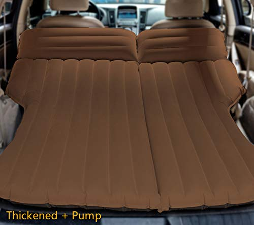 LUOOV Multifunctional Car SUV Air Mattress Camping Bed,Outdoor SUV Dedicated Mobile Cushion Extended Travel Mattress Air Bed Inflatable for SUV Back Seat,Fit 95 SUV with Pump