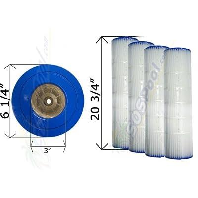 Pentair 4 Pack 15 sq. ft. Cartridge Filter Quad D.E. 60 178654 C-6960 FC-1961 : Outdoor Spas : Garden & Outdoor