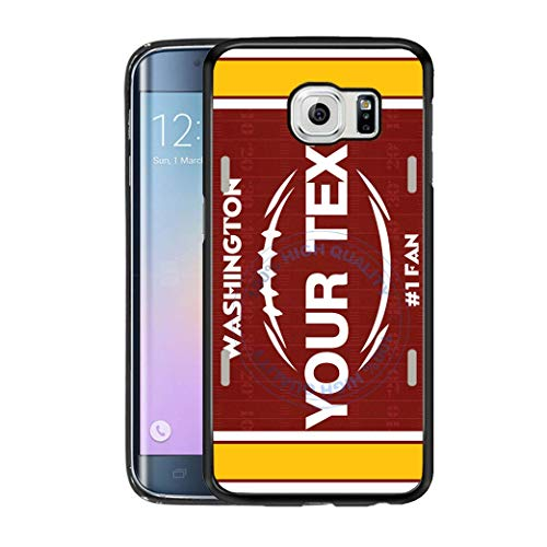 (BRGiftShop Personalize Your Own Football Team Washington Rubber Phone Case For Samsung Galaxy S6 Edge)
