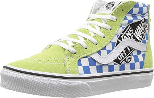 Vans Kids K SK8-HI Zip Patch Sharp Green True White Size 3 -