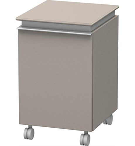 Mobile storage unit, 1 door, right hinge, 18 1/8ô x 15 3/4ô, Terra by Duravit