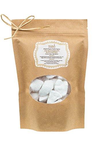 Bath Bomb Rocks Gift Bag for Women, in Vanilla Relaxing Aromatherapy Bath Fizziest Bubble & Spa Bath for Her/Him, Holiday Stocking Stuffer Gifts with Olive Oil, Cocoa Butter, Shea Butter and Vitamin E ()