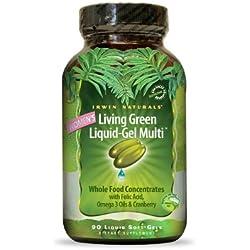 Irwin Naturals Women's Living Green Liquid-Gel Multi (90 Count Soft-Gel), 10.6-Ounce Box