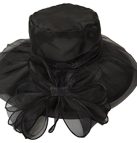 Toyobuy Women Lady Foldable Anti-UV Outdoor Wide Brim Sun Hat Black by Toyobuy