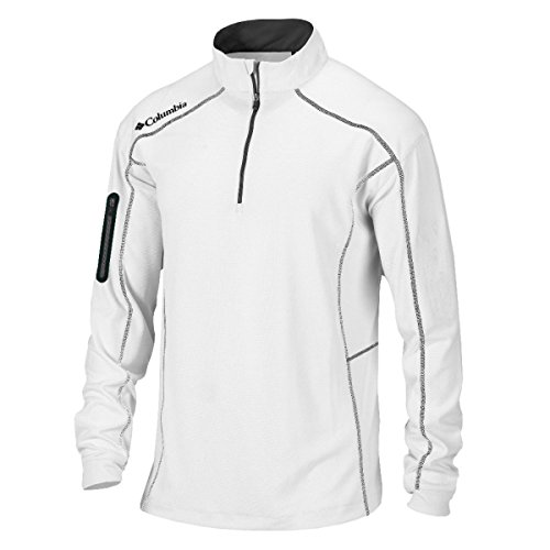 Pullover Mens Golf - Columbia Omni-Wick Shotgun 1/4 Zip, White, Large