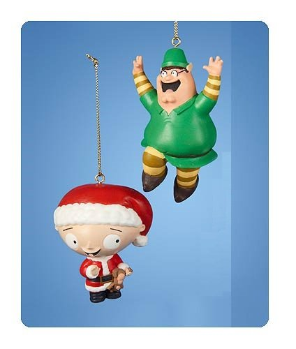 Family Guy Peter, and Stewie Christmas Ornament - 2 Pack - Family Guy Peter, And Stewie Christmas Ornament - 2 Pack: Amazon.co