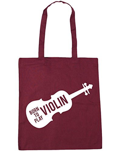 42cm to Bag Beach Born 10 Burgundy Violin Play x38cm litres Gym Tote HippoWarehouse Shopping gwSaBqWwn