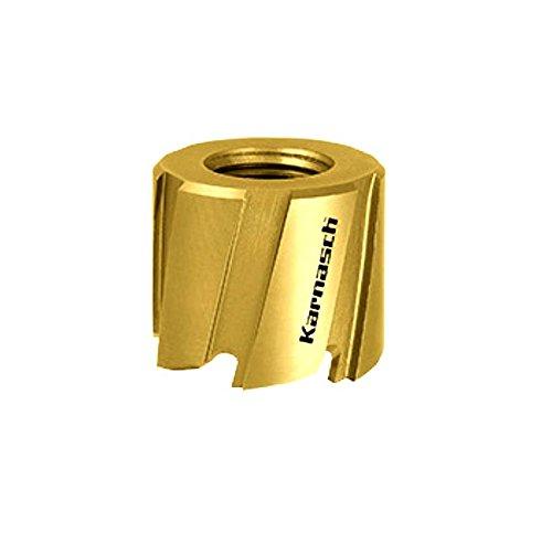 KARNASCH 211000017 Sierra de Corona de Acero HSS-M2 + Revestimiento TIN y Fresa de Puntos de Soldadura, 17mm Diámetro de Corte, 8mm Longitud de Corte, 6 Dientes