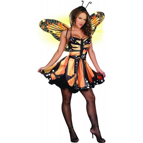 Adult Fairy Halloween Costumes (Monarch Fairy Adult Costume - X-Small)