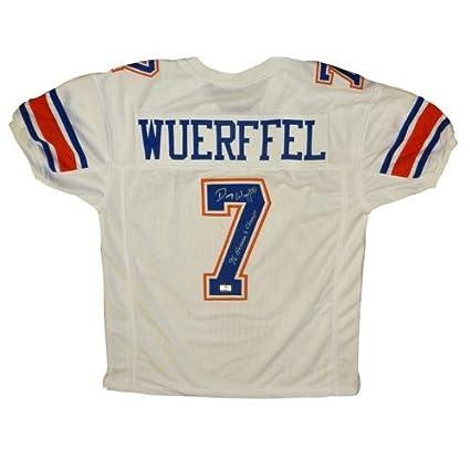hot sale online fb2e0 dd62b Danny Wuerffel Autographed Florida Gators (White #7) Custom ...