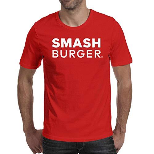 Men Smashburger White Logo Short Sleeve T Shirts Loose Casual Skin-Friendly Shirt