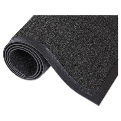 Super-Soaker Wiper Mat w/Gripper Bottom, Polypropyl, 34 x 119, Charcoal, Sold as 1 Each