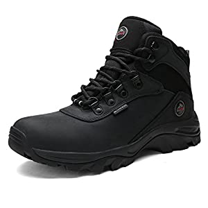 DREAM PAIRS Men's Nortiv8 Bronx Black Waterproof Work Boots Size 10 M US
