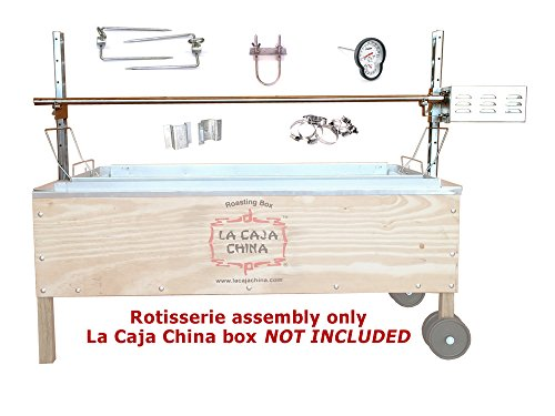Pig, Hog, and Lamb Rotisserie for La Caja China Box