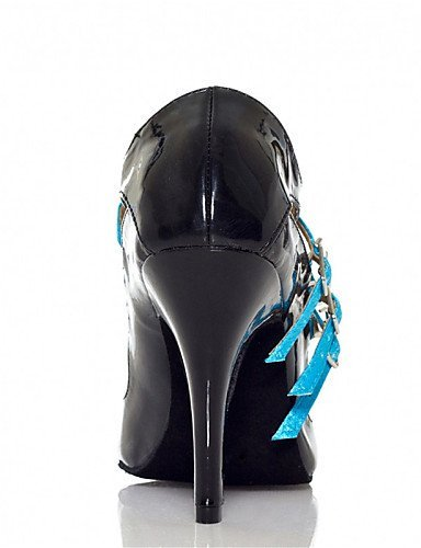 ShangYi Chaussures de danse(Bleu / Léopard) -Personnalisables-Talon Personnalisé-Cuir / Similicuir-Latine / Jazz / Salsa / Samba / Chaussures de Blue