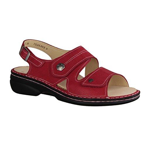 Finn Comfort Milos - Sandalias de vestir de Piel para mujer rojo brillante