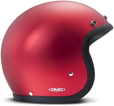 Size S Red DMD Vintage Motorbike Helmet