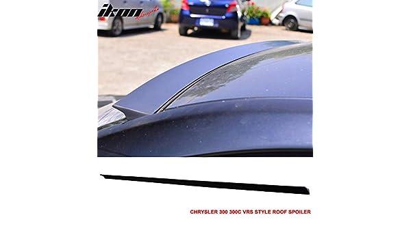 PUF Fits 11-16 Chrysler 300 300C VRS Style Roof Spoiler Unpainted Black