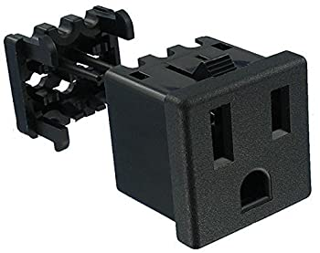 AC Power Plugs & Receptacles Snap-In Mnt Term (1 piece)