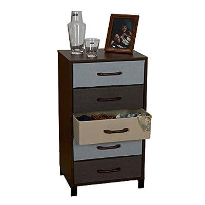 Household Essentials 3-Drawer Wooden Storage Chest, Honey Maple