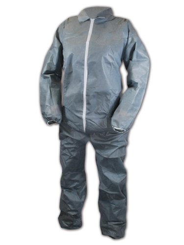 Magid EconoWear Lite N Kool Plus SMS Fabric Coverall, Disposable, Elastic Cuff, Gray, 3X-Large (Case of 25) by Magid Glove & Safety (Image #1)