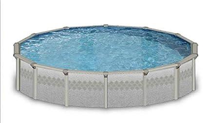 Amazon.com: Ellipse 18x33 Oval Steel Wall Above Ground Pool Kit ...
