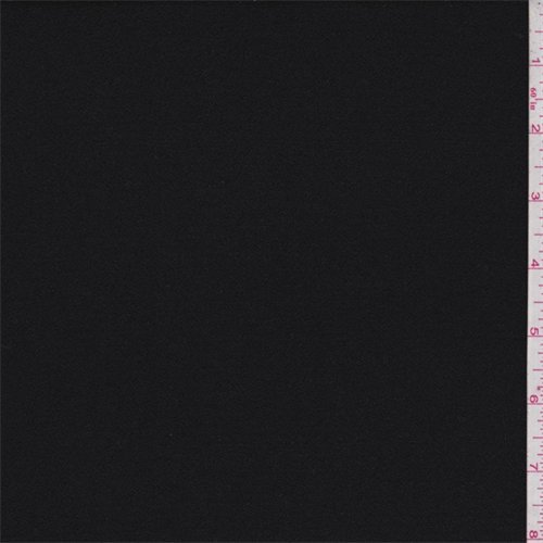 Rayon Crepe - Jet Black Rayon Crepe, Fabric By the Yard